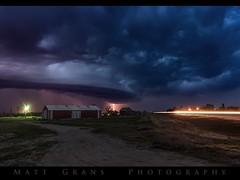 Lighting the Dark (Matt Grans Photography) Tags: shelfcloud clouds twilight lightning lightening nebraska night storm weather