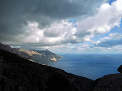 View from one more crest of the ridge (angeloska) Tags: ikaria hikingtrails opsikarias aegean greece signage    ryakas geli   february winter weather ikarianview clouds