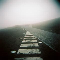 (kubakozal) Tags: holga kodak portra 160 azores island faial capelinhos volcano fog ashes paths clouds
