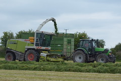 Claas Jaguar 900 SPFH filling a Smyth Trailers Silage Trailer drawn by a Deutz Fahr Agrotron M640 Tractor (Shane Casey CK25) Tags: claas jaguar 900 spfh filling smyth trailers silage trailer drawn deutz fahr agrotron m640 tractor sdf samedeutzfahr deutzfahr green self propelled forage harvester rathcormac silage16 silage2016 grass grass16 grass2016 winter feed fodder county cork ireland irish farm farmer farming agri agriculture contractor field ground soil earth cows cattle work working horse power horsepower hp pull pulling cut cutting crop lifting machine machinery nikon d7100 traktori traktor tracteur trekker trator ciągnik crops collect collecting