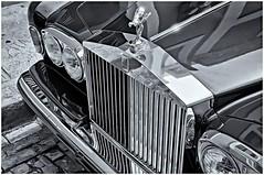 Rolls Royce (Black and White Fine Art) Tags: canon industar22f35 rollsroyce antiquecar autosantiguos bw bn sanjuan oldsanjuan viejosanjuan puertorico lightroom lightroom3 aviary canonlld21955leicacopy