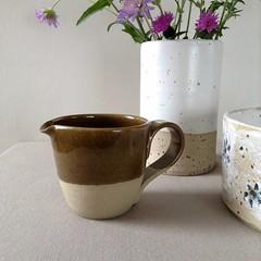 Stoneware Jug (Jude Allman) Tags: stoneware ceramics ceramic jude allman jugs pottery pots pot olive folksy etsy