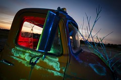 RGB Truck III (Notley Hawkins) Tags: blue light sunset red sky lightpainting tree green abandoned night clouds truck evening midwest july rearviewmirror pickuptruck missouri greenlight bluehour rgb redlight nocturne bluelight 2016 10thavenue redgel bluegel notley ruralphotography greengel ruralusa overtonmissouri notleyhawkins coopercountymissouri missouriphotography rgblight httpwwwnotleyhawkinscom notleyhawkinsphotography