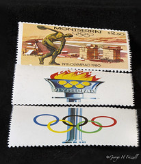 Olympics (toonarmy59) Tags: summerolympicsports macromondays olympics brazil montserrat olympicrings stamps olympicflame discus 19tholympiad 1980 moscow