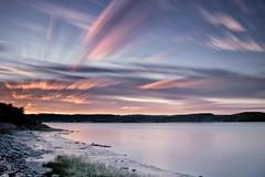 Coucher de soleil sur la riviere Saguenay du 19-07-2016 (gaudreaultnormand) Tags: 2016 canada chicoutimi coucherdesoleil longexposure longueexposition quebec riviere saguenay saguenayriver sunset nuage extrieur ciel cloud