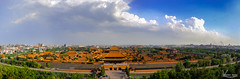Forbidden City (Val Guid'Hall) Tags: beijing pkin chine china stadium olympic birds net games asie asia sports capital architecture outdoor landscapes 2016 forbidden city cit interdite tower observation park green lights trails highway dof water cube