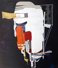 Jim Harris: Probe XII Revised. (Jim Harris: Artist.) Tags: art painting abstract weltraum space geometric cosmos black white peinture konst kunst jim harris
