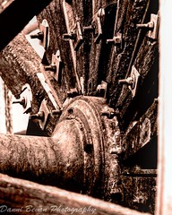 Close up of a water wheel (dannibevan18) Tags: old brown composition contrast detail filter nikon closeup macro waterwheel