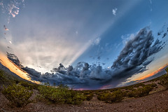 Crepuscular Rays (inlightful) Tags: sunset evening sunrise morning clouds sky weather nature atmosphere shadows crepuscularrays rays sunrays sunbeams dirt creosote mesquite desert southwest newmexico socorrocounty