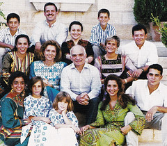 KIng Hussein and Queen Noor with all their children (Doc Kazi) Tags: jordan hashemite kingdom monarchy hussein talal hassan sarvath noor lisa clinton hillary bill rabin leah mobarak yasser arafat hosni suha princes princesses nineties middle east peace oslo ii