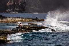 The Fishing Boy (galvanol) Tags: atlantic caboverde pontadosol santoantao cliffs coast fishing galvanol waves