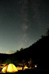 Camp in Sasayama (tanaka0511) Tags: hyogo sasayama camp milkyway night stars