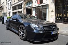 Mercedes SL 65 AMG Black Sries (Monde-Auto Passion Photos) Tags: auto automobile mercedes sl classe amg black sries noir coup france paris
