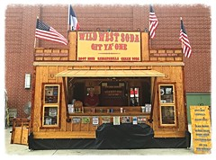 Old Time soft drinks (mrgraphic2) Tags: indiana state fair 2016 drinks wildwest soda booth