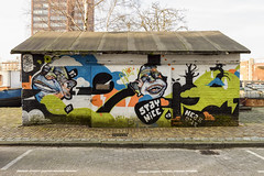 Grafitti of Coolhaven 2 (R. Engelsman) Tags: grafitti coolhaven rotterdam rotjeknor roffa 010 netherlands nederland holland art streetart outdoor building hiphop urban mural hiphophuis painting music