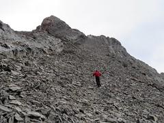 Mt Hood Summit Scramble - The summit ridge with the true summit in far distance (benlarhome) Tags: kananaskis alberta canada mounthood mthood trail trek scramble scrambling path rockies rockymountain mountain gebirge montagne gipfel summit peak