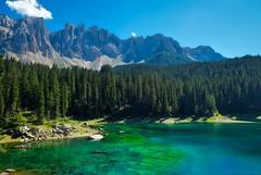 lake 7 (explored) (lotti roberto) Tags: xt10 montagna mountain trentino lagodicarezza lake lago sky water green fav25 fav50 fav75