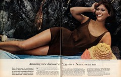 Sears - 1963 (rchappo2002) Tags: sea girl fashion vintage magazine ads advertising star women 60s bra retro advertisement suit advert 1960s hip bathing swimsuit sixties 1963 seastar