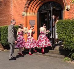 Going in (Reinardina) Tags: wedding england bride bridesmaids southampton kilts standrewschurch theavenue e11 scotsmen