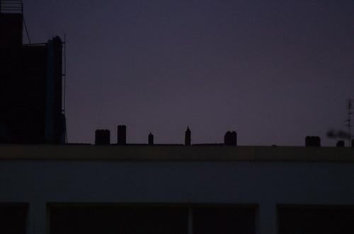 Dämmer über Dächern