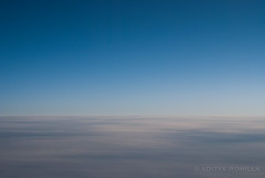 Dusk in Blue (arohilla) Tags: blue sunset sky abstract clouds airplane flying nikon skies dusk horizon perspective aerial minimal fromabove minimalist windowseat d40x