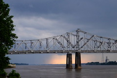 Over the Mississippi River (The Dolly Mama) Tags: bridge rain mississippi natchez