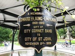 A Memorial to Edward VII, King-Emperor, 1901-1910 (jschumacher) Tags: canada newbrunswick bandstand saintjohn