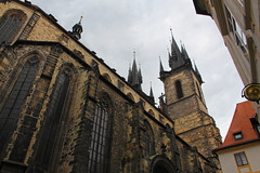 Twin spires of  the Church of Our Lady before Tn in Prague (travelmag.com) Tags: czech prague spires historic christianity churchofourladybeforetn