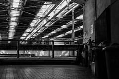 Osaka (timotical) Tags: blackandwhite bw digital nikon f14 sigma railway osaka elevated nakatsu 30mm schwarzundweiss d7000