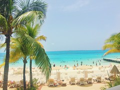 Paradise. (naturalized) Tags: beach ocean swim day outdoor outside outdoors people water resort cancun mexico palm trees sunny beautiful