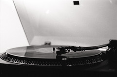 Turntable (Ferdinand Klotzky) Tags: black and white canon a1 fd 50mm f18 kodak trix 400 35mm film classic retro negative self developed made germany augsburg aerospace true style look turntable music pick up vinyl sound lp ep 12 inch vintage