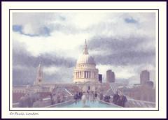 St Paul's impression (alanrharris53) Tags: bridge light london art church painting view cathedral god stpauls millennium impressions topaz reworked