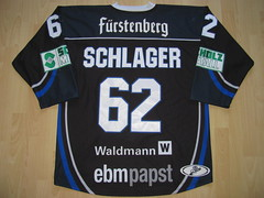 #62 Philipp SCHLAGER Game Worn Jersey (kirusgamewornjerseys) Tags: wild game ice hockey del wings worn jersey philipp schwenningen eishockey schlager serc