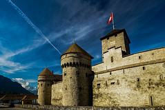 Chillon Castle (sunnyha) Tags: chilloncastle building sky skyblue blue bluesky switzerland sunny sunnyha day outdoors color colours photographier photograph photographer sony a7rll a7rm2