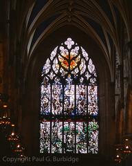 ScotlandJuneJuly2016-98940012 (Paul Burbidge) Tags: film united kingdom provia100 nikon fm2n scotland church holy rude windows stained glass