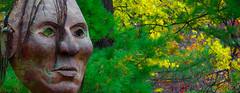 Little Crow Mask (FlappinMothra) Tags: little crow minnehaha falls park mask dakota sioux native american indian uprising conflict war chief leader minnesota minneapolis minn mn pentax