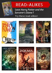 Read-Alikes for Harry Potter and the Sorcerer's Stone by J.K. Rowling 7/21/16 (plano.library) Tags: read readalikes harrypotter harrypotterandthesorcerersstone jkrowling magic fantasy books planopubliclibrarysystem haggard harrington parr davis schimelpfenig library libraries
