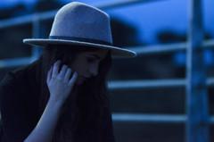 XVI (Rubn T.F.) Tags: girl woman portrait winter blue bridge abandoned youth