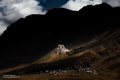 Key Monastery, Himachal Pradesh (Bharat Baswani) Tags: key kee ki gompa gonpa monastery temple buddhism buddhist spiti valley himachal pradesh mountains himalayas lightplay shadows surreal magic mystic hilltop village dark landscape light