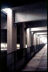 Shadows and light on concrete. (FreezerOfPhotons) Tags: olympus35sp konica160pro expiredfilm homec41 unicolorc41