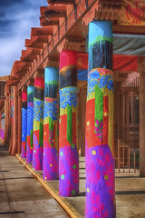 _MG_4000 copy 2jpg (carolynpepper) Tags: abstract newmexico museum architecture design colorful native contemporary vibrant pueblo arts iaia adobe fields santefe pillars starr vigas yatika