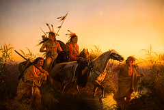 The Captive Charger (Thomas Hawk) Tags: sunset horse usa moon museum america painting gun unitedstates indian unitedstatesofamerica stlouis mo missouri indians artmuseum nativeamericans forestpark spear wimar saintlouisartmuseum charlesferdinandwimar thecaptivecharger