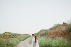 love story (yuliana's photos) Tags: love story lovestory weddibg girl boy sea white green        nature landscape lighthouse field bride groom