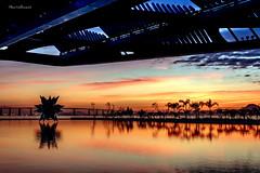 No Museu do Amanh - Rio de Janeiro (mariohowat) Tags: brazil brasil riodejaneiro sunrise natureza amanhecer longaexposio nascerdosol praamau rio2016 museudoamanh novapraamau