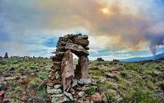 Mordor, or close enough (rovingmagpie) Tags: utah fishlake rocksculpture stonehenge lorenzolarsen shepherd fire smoke rock arch doom ctg2016 summer2016 8mm