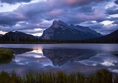 Mt Rundle sunrise (Robert Ron Grove 2) Tags: banff rundle water reflections lake robertgrove clouds sunset