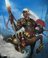 """Centaurs, a playable four-legged """"Romans"""" of MMORPG Crowfall (JamesGoblin) Tags: crowfall mmo mmorpg pvp game gaming pc voxels vr virtual reality koster sandbox medieval fantasy gameofthrones eveonline eve illustration entertainment fun computers cyberculture online crowdfunding kickstarter games onlinegames videogames voxel proceduralgeneration procedural virtualreality computer rpg poster art multiplayer surreal centaur centaurs legionnaire banner fourlegged fourlegs armor plate heavyarmor legionnaires horse horses hooves hoof wallpaper wallpapers posters girl girls female females lady woman women pretty beauty face hair hairstyle spear spears helmet romanhelmet blue tail tails"""