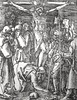 Phillip Medhurst presents John's Gospel: Bowyer Bible print 5545 Jesus is crucified John 19:25 Dürer (Phillip Medhurst) Tags: john johnsgospel gospelaccordingtojohn gospel jesus christ jesuschrist bowyerbible bible bibleillustration dürer durer crucify crucifixion skull