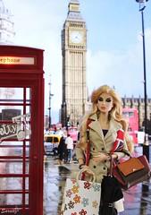 A-Z Challenge: L - London Life (saratiz) Tags: london fashiondolls bigben telephone bag fashionroyalty dania shoppingbag umbrella rain overcoat foulard