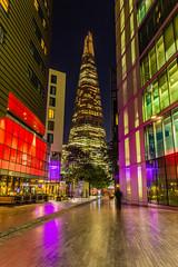 The Shard at Night (Davestarling) Tags: canon1740mmf4l canon6d uk london theshard architecture skyscraper longexposure